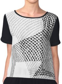 abstract lines Chiffon Top