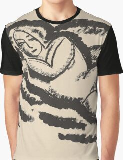 Vintage famous art - Alexei Jawlensky  - Reclining Nude Graphic T-Shirt