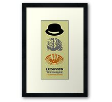 KUBRICK LUDOVICO TECHNIQUE Framed Print
