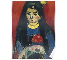 Vintage famous art - Alexei Jawlensky  - Red Blossom Poster
