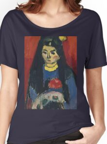 Vintage famous art - Alexei Jawlensky  - Red Blossom Women's Relaxed Fit T-Shirt