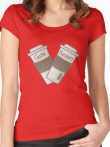 coffee heart Women's Fitted Scoop T-Shirt