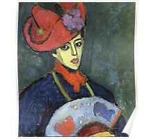 Vintage famous art - Alexei Jawlensky  - Schokko With Red Hat Poster