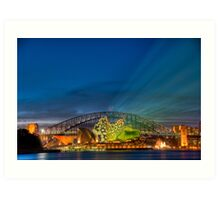 Vivid Sunset - Sydney Opera House and Harbour Bridge Art Print