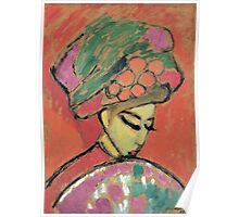 Vintage famous art - Alexei Jawlensky  - Young Girl With A Flowered Hat Poster