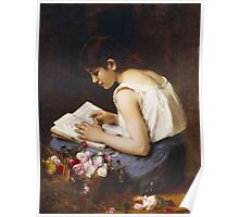Vintage famous art - Alexej Alexejewitsch Charlamoff - A Girl Reading Poster