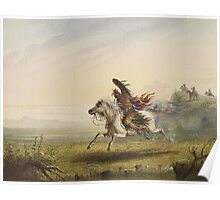 Vintage famous art - Alfred Jacob Miller  - Beating A Retreat Poster