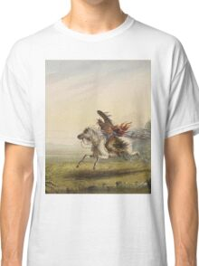 Vintage famous art - Alfred Jacob Miller  - Beating A Retreat Classic T-Shirt