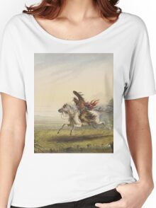 Vintage famous art - Alfred Jacob Miller  - Beating A Retreat Women's Relaxed Fit T-Shirt