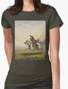 Vintage famous art - Alfred Jacob Miller  - Beating A Retreat Womens Fitted T-Shirt