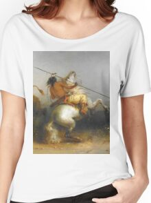 Vintage famous art - Alfred Jacob Miller  - Buffalo Hunt Women's Relaxed Fit T-Shirt