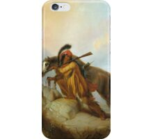 Vintage famous art - Alfred Jacob Miller  - The Scalplock iPhone Case/Skin