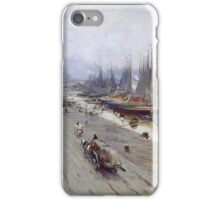 Vintage famous art - Alfred Smith  - Bordeaux, View From The Bridge, Winter Day iPhone Case/Skin