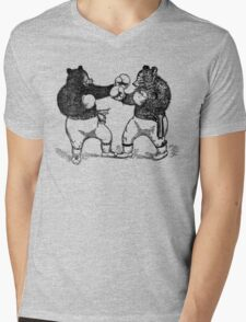 Boxing Bears Mens V-Neck T-Shirt