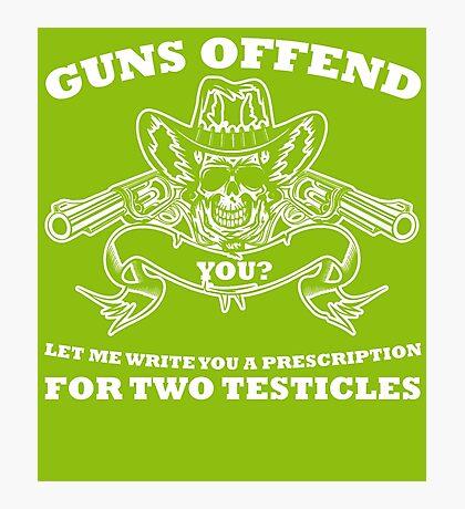 Guns offend Photographic Print