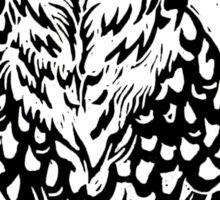 Snowy Owl Lino Sticker