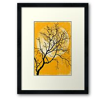 yellow night Framed Print