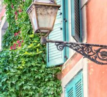 Traditional italian alley with old streetlamp Sticker