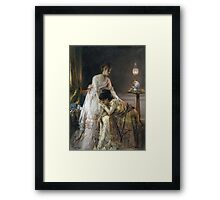 Vintage famous art - Alfred Stevens  - After The Ball, Also Known As Confidence Framed Print