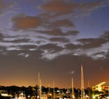 Twilight on Raby Bay Harbour Sticker