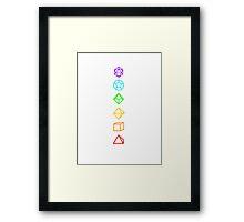 DICEKRAS (WHITE) Framed Print