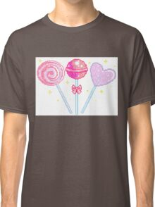 Pink Sparkly Lollipops Classic T-Shirt