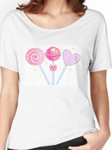 Pink Sparkly Lollipops Women's Relaxed Fit T-Shirt