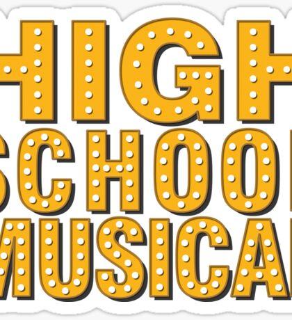 High School And Musical Sticker