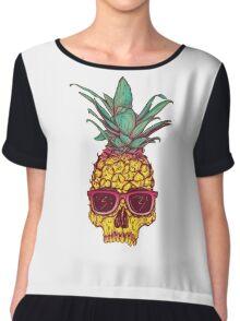 Pineapple Skull Chiffon Top