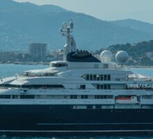 Ocean Cruiser moored at Cannes Sticker