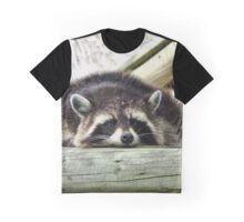 Tired Raccoon Graphic T-Shirt