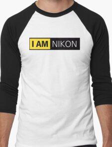 i am nikon black Men's Baseball ¾ T-Shirt