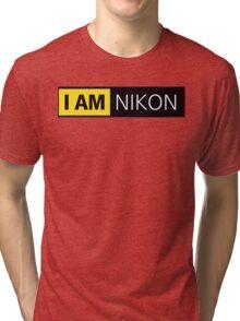 i am nikon black Tri-blend T-Shirt