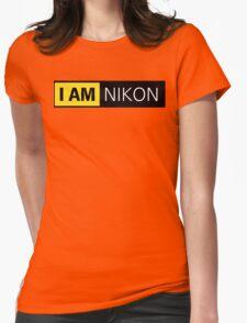 i am nikon black Womens Fitted T-Shirt