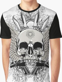 Winged Skull With Guns Graphic T-Shirt