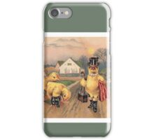 Anthropomorphic Chicken Wearing Boots and Top Hat iPhone Case/Skin