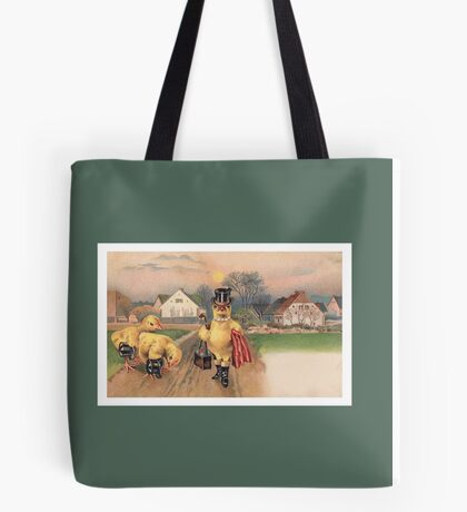 Anthropomorphic Chicken Wearing Boots and Top Hat Tote Bag