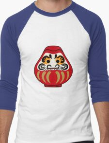 Cute Daruma doll Men's Baseball ¾ T-Shirt