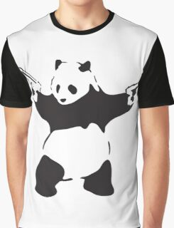 Panda the Gunslinger Graphic T-Shirt