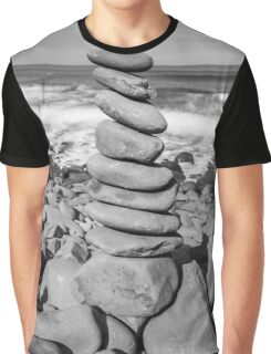 Stone Stacking Sculpture Graphic T-Shirt