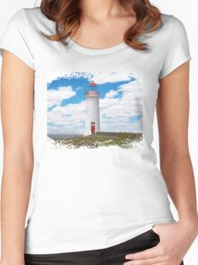 Lighthouse, Port Fairy, Victoria, Australia Women's Fitted Scoop T-Shirt
