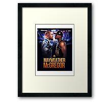 Floyd Mayweather Vs Conor McGregor (T-shirt, Phone Case & more) Framed Print