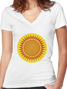 HYPNOTIC VIBES Women's Fitted V-Neck T-Shirt