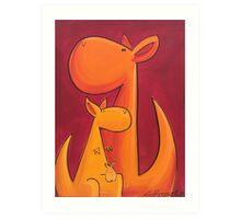 Splatter Mob (Kangaroos) Art Print