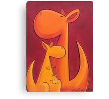 Splatter Mob (Kangaroos) Canvas Print