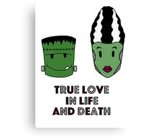 Halloween - True love Canvas Print