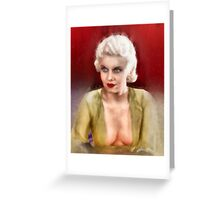 Jean Harlow by Frank Falcon Greeting Card