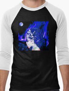 Blue Goddess Men's Baseball ¾ T-Shirt