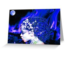 Blue Goddess Greeting Card