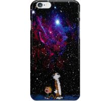 Calvin and hobbes night sky iPhone Case/Skin